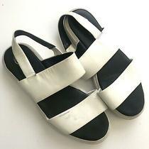 Jeffrey Campbell  Sandals Women's Size 8.5 White Havana Last Adler Slides Photo
