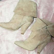 Jeffrey Campbell - Scarlett Womens  Blush Bow Heeled Booties Size 7.5 Nib. Photo
