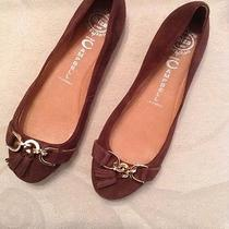 Jeffrey Campbell Seriously  Brown Suede Gold Chain/tassel Accent Flats Women's 9 Photo