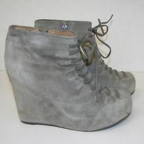 Jeffrey Campbell Shoes Bootie Wedge Shootie Gray Hamilton Heels Size 5 Photo