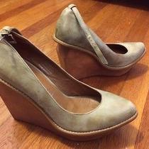 Jeffrey Campbell Shoes Size 7 Wedges Mary Jane Olive Photo