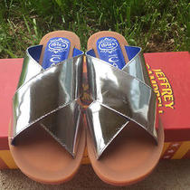 Jeffrey Campbell Silver Caprese Sandals Size 6  Photo