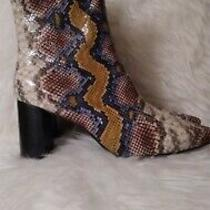 Jeffrey Campbell Siren Snakeskin Boots Nwob Size 11 Photo