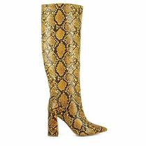Jeffrey Campbell Siren Yellow Snakeskin Boots New 6.5 Photo