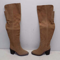 Jeffrey Campbell Size 5 Women's Raylan Taupe Distressed Suede Tall Boot 65454 Photo