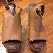 Jeffrey Campbell Size 7 Tan Leather Wedge Shoes Photo