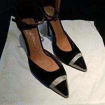 Jeffrey Campbell Size 8 Black Cap Toe Heels Photo