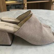 Jeffrey Campbell Size 8 Grey Suede Mules Slides Sandals Heels Photo