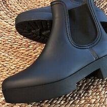 Jeffrey Campbell Size 8 Platform Hydra Waterproof Chelsea Rain Boot Matte Black Photo