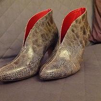 Jeffrey Campbell Size 9 Faux Grey Snake Skin Instep Booties Photo