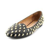 Jeffrey Campbell Skulltini Womens Size 6 Black Leather Flats Shoes Used Photo