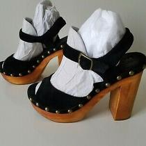 Jeffrey Campbell Slendid Platform Sandals Size 8 Black Photo
