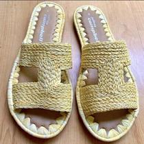 Jeffrey Campbell Slide Sandals Size 6 (Runs Small 5.5) Yellow Nwt Photo