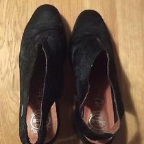 Jeffrey Campbell Slingback Mule Size 8 Calf Hair Chunky Heel Photo