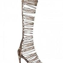 Jeffrey Campbell Snake Knee High Lace Up Advent Sandals 37 - 7.5 or 8 Us Photo