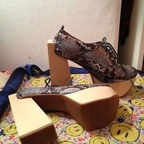 Jeffrey Campbell Snakeskin Wood Platform 7 Photo