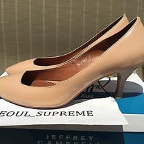 Jeffrey Campbell Snipped Patent Leather Nude Heels Tory Photo