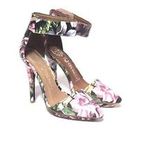 Jeffrey Campbell Solitaire Floral Pumps Leather  Ankle-Strap  Size 5.5 Photo