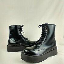 Jeffrey Campbell Sopas Black Platform Combat Boots Women's Size 8.5 M Us Photo