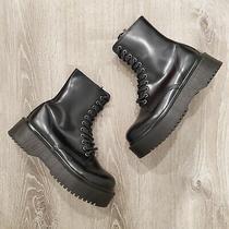 Jeffrey Campbell Sopas Lugged Platform Combat Boot Black Size 8.5 Photo