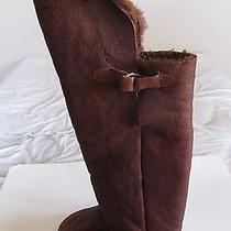 Jeffrey Campbell Spec Brown Leather Knee High Boots Women's Sz 10 Photo
