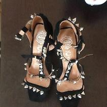 Jeffrey Campbell Spike Suede Sandals Brand New  Photo