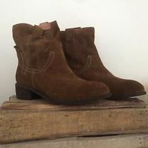 Jeffrey Campbell St. Elmo Brown Suede Bootie Size 10 Msrp 145 Photo