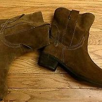 Jeffrey Campbell St Elmo Brown Suede Boots 10 Euc Leather Ankle Booties Photo
