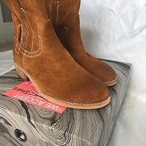 Jeffrey Campbell St Elmo Sz 6 M Western Ankle Boots Suede Leather Almond Brown Photo