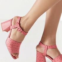 Jeffrey Campbell Stang Block Pink Sandal 7 Photo