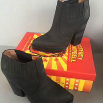 Jeffrey Campbell Stria Leather Chelsea Boots Size 9.5 New in Box  Photo