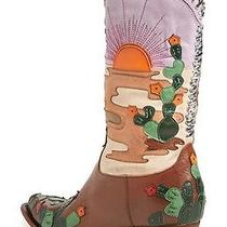 Jeffrey Campbell Succulent Pointy Toe Western Boot Women Cowgirl Sunset Sunrise Photo