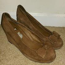 Jeffrey Campbell Suede Bow Wedges Size 7.5 Photo