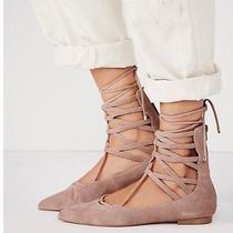 Jeffrey Campbell Suede Lace Up Flats Photo