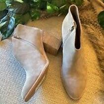 Jeffrey Campbell Suede Mushroom Block Heel Ankle Booties Boots Size 10 Photo
