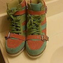 Jeffrey Campbell Suede Sneaker Wedge Boots 6 Photo