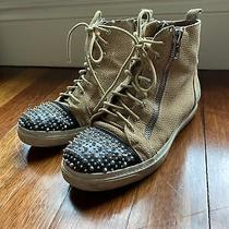 Jeffrey Campbell Suede Studded Tan Sneakers Size 8 Photo