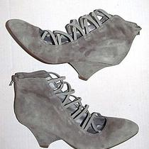 Jeffrey Campbell Suede Tie Up Gray Size 9 Style Trendy Hipster Heels Ankle Funky Photo