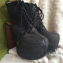 Jeffrey Campbell Super Fun Black Party Platforms Women's Size 9 Photo
