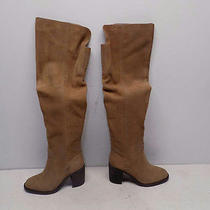 Jeffrey Campbell Sz 5.5 Women's Raylan Taupe Distressed Suede Tall Boot 65454 Photo