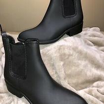 Jeffrey Campbell Sz11 Forecast Chelsea Waterproof Ankle Rain Boots Photo