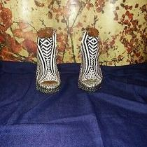 Jeffrey Campbell Tack Tribal Wedge Ankle Bootie Boots Womens Size 8 Photo