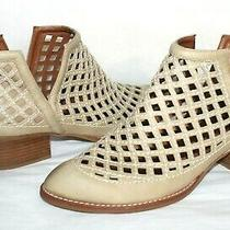 Jeffrey Campbell Taggart Open Weave Bone Cut-Out Leather Boots 9 M Lk13 Photo
