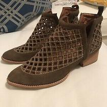 Jeffrey Campbell Taggart Perforated Booties Sz 8. Retail 185 Photo