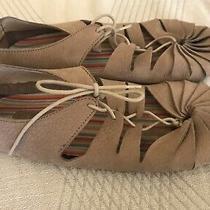 Jeffrey Campbell Tan Leather Moccasins Size 8 Photo