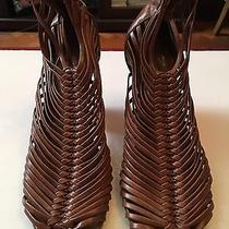 Jeffrey Campbell Tan Strappy Gladiator Sandal Bootie Heels in Size 8 Photo