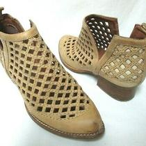 Jeffrey Campbell Taupe Leather Booties Boots Pull-on Cromwell Size Sz 7.5 Photo