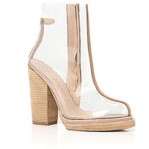 Jeffrey Campbell the Attina Shoe in Beige and Clear Photo