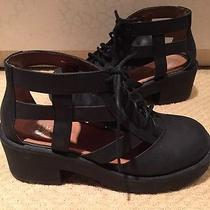 Jeffrey Campbell Thomb Black Distressed Size 7.5-New in Box Photo