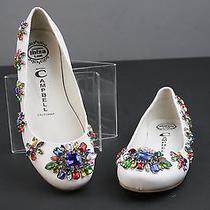 Jeffrey Campbell Tres-Orne Ballet Flat White Jewels Size 5 Photo